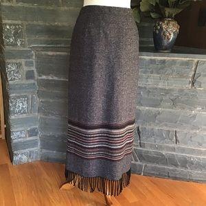 Vintage Michele Wool Blend Boho Maxi Skirt